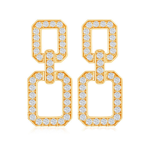 DFJ Diamond Link Earrings