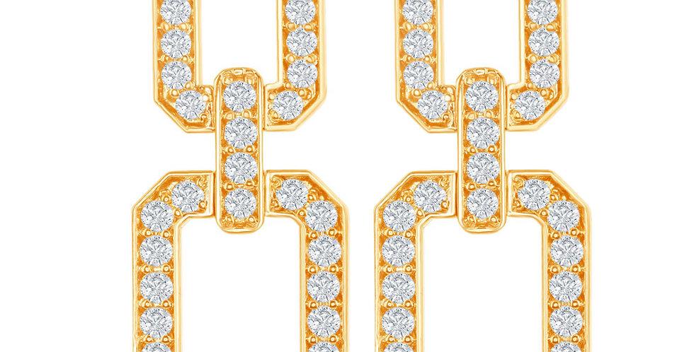 DFJ Diamond Link Earrings