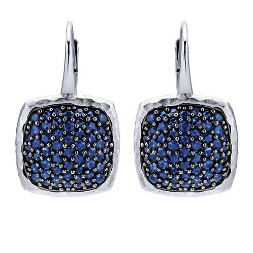Gabriel & Co.- Sapphire Cushion Dangle Earrings