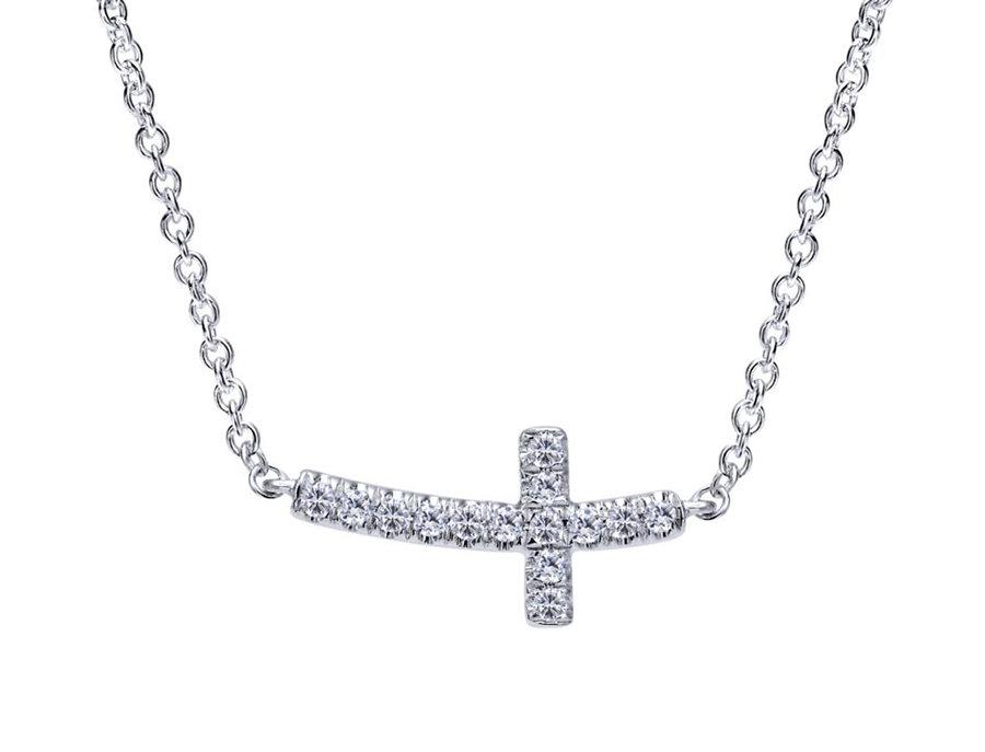 Gabriel & Co.- Sideways Diamond Cross