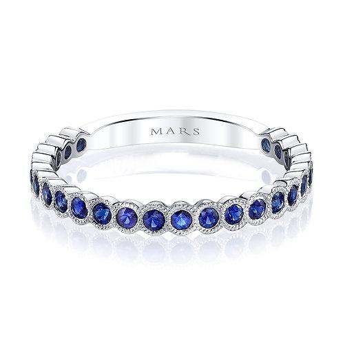 MARS Fine Jewelry - Bezel Set Blue Sapphire Band