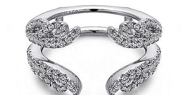 Gabriel & Co - Floral Diamond Ring Enhancer