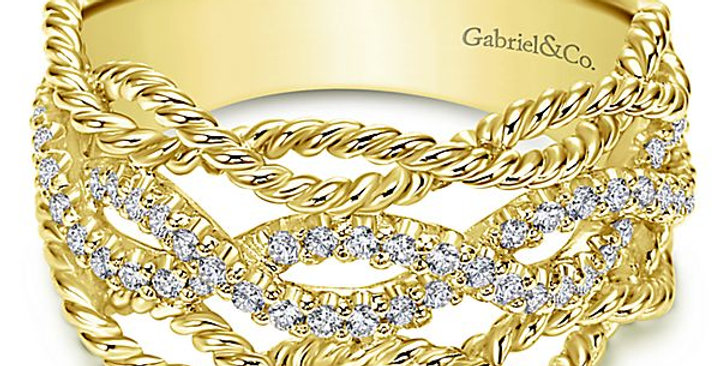 Gabriel & Co. - Diamond Rope Style Band