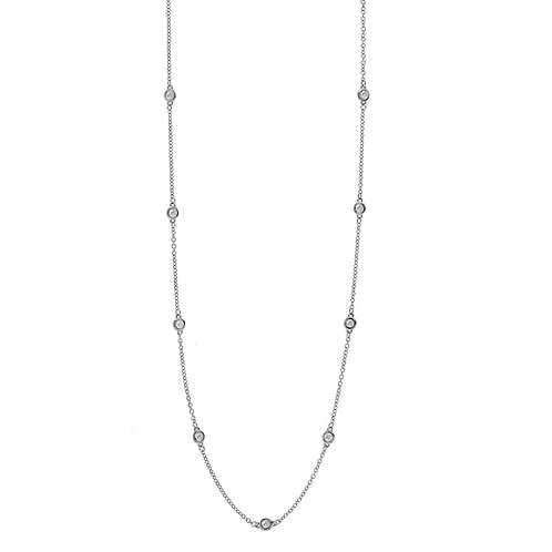 Diamond Station Necklace - 2s