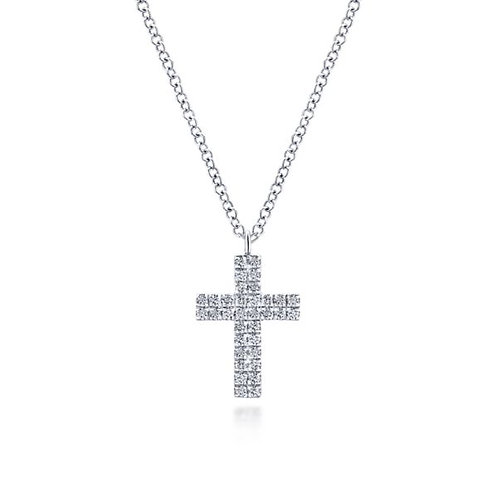 Gabriel & Co - Double Row Diamond Cross