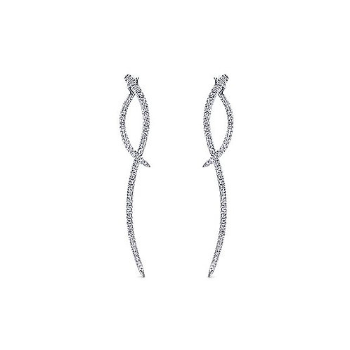 Gabriel & Co.- Peek-a-Boo Diamond Dangle Earrings