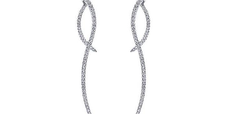 Gabriel & Co.- Peek-a-Boo Diamond Dangle Earrings