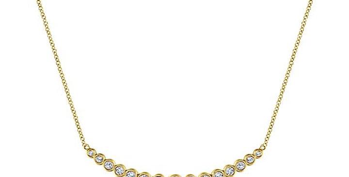 Gabriel & Co. - Bezel Set Curved Diamond Necklace