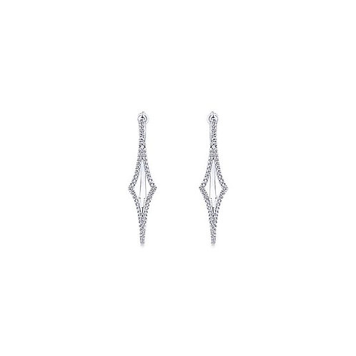 Gabriel & Co.- Geometric Diamond Hoops