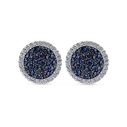 Gabriel & Co.- Sapphire Disc Earrings
