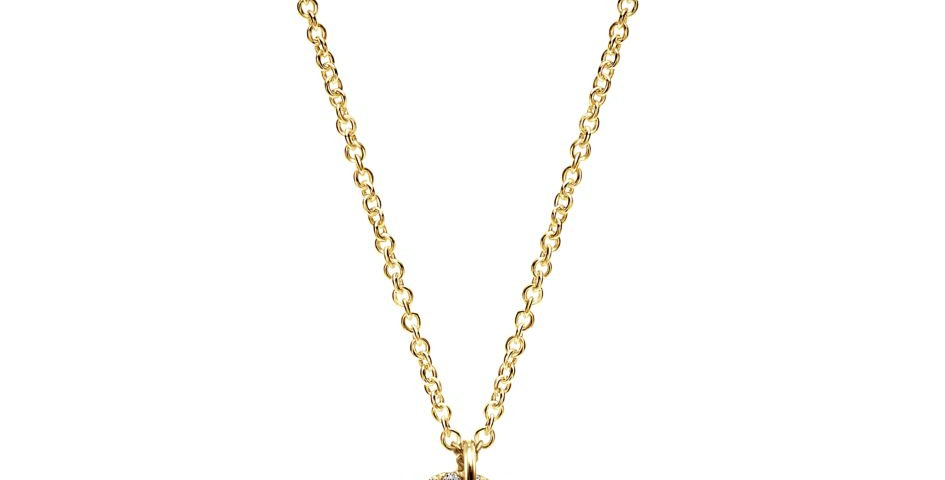 Gabriel & Co. - Brushed Heart Diamond Necklace