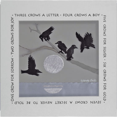 Counting crows—5 crows for silver