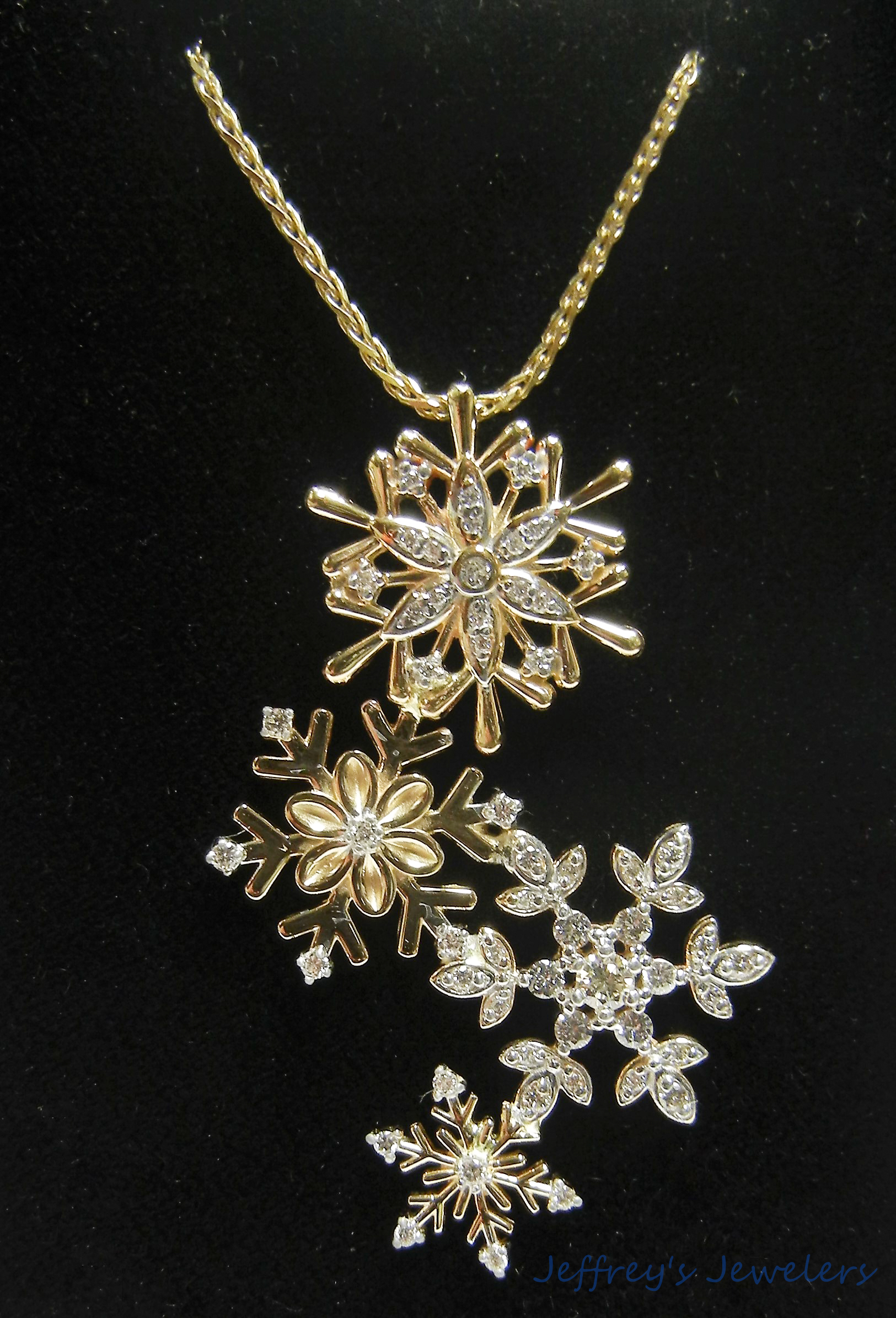 Custom made snowflake necklace