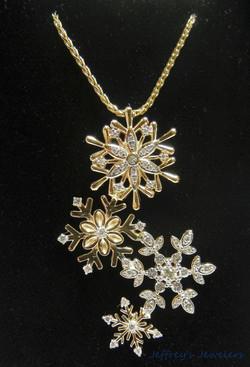 Custom made snowflake necklace