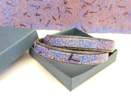 Bracelet Milla bleu/orange pour homme
