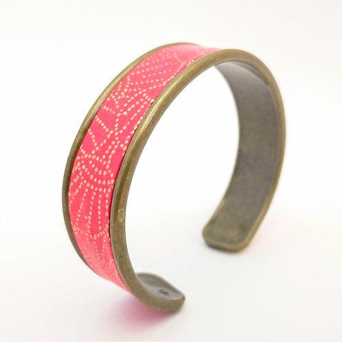 Bracelet Elina rouge-or