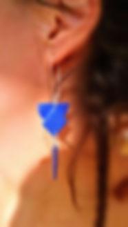 boucles d'oreilles en papier Brunhilde