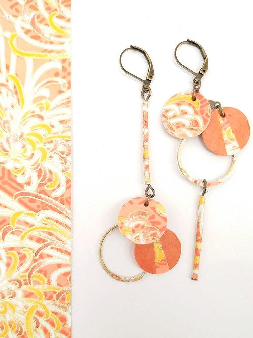 Boucles d'oreilles Noélie orange