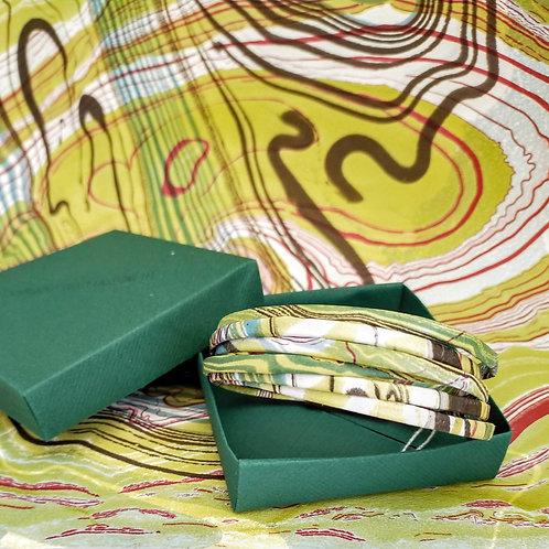 Bracelet Milla vert marbré