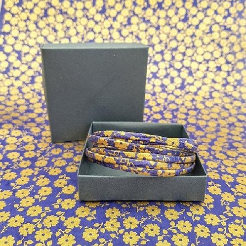 bracelet Milla bleu et or