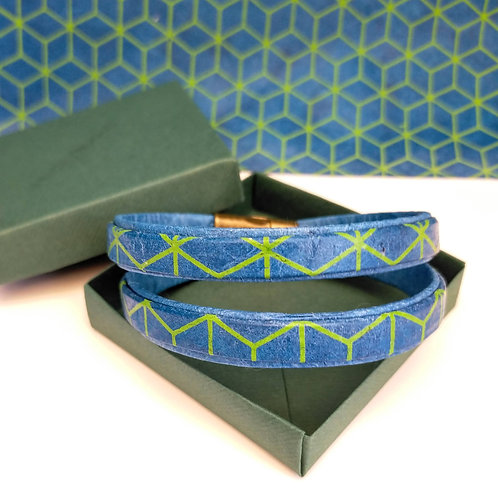 Bracelet Milla vert/bleu pour homme
