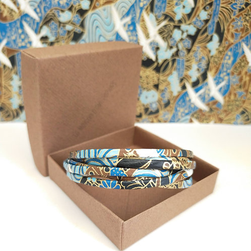 Bracelet Milla bleu et marron
