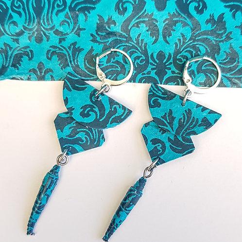 Boucles d'oreilles Brunhilde turquoise