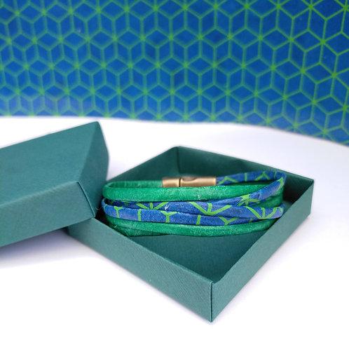 Bracelet Milla vert-bleu