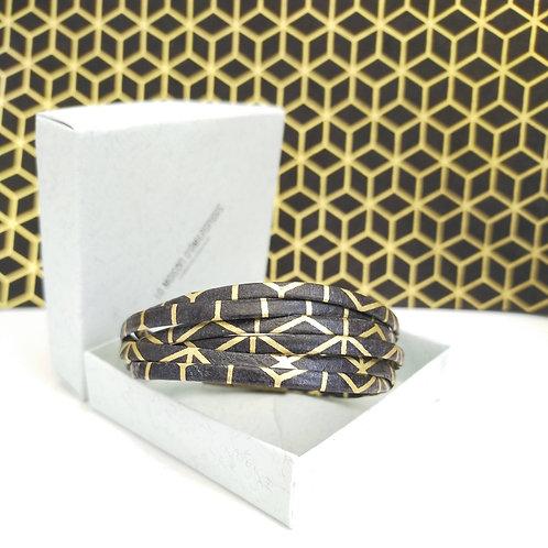 Bracelet Milla noir et doré