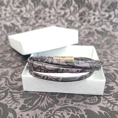Bracelet Milla noir et gris