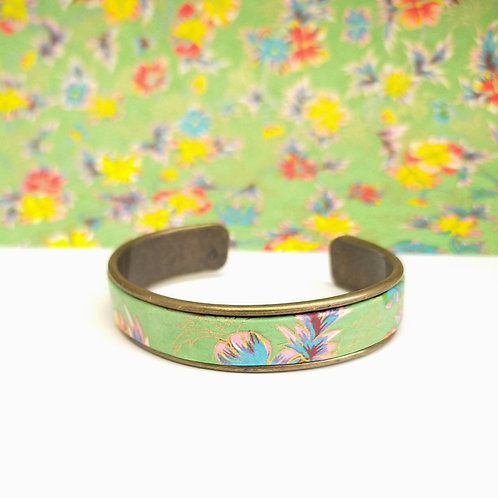 Bracelet Elina vert fleuri