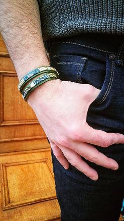 Bracelet homme en papier