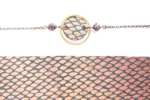 Bracelet Alzire noir et cuivré