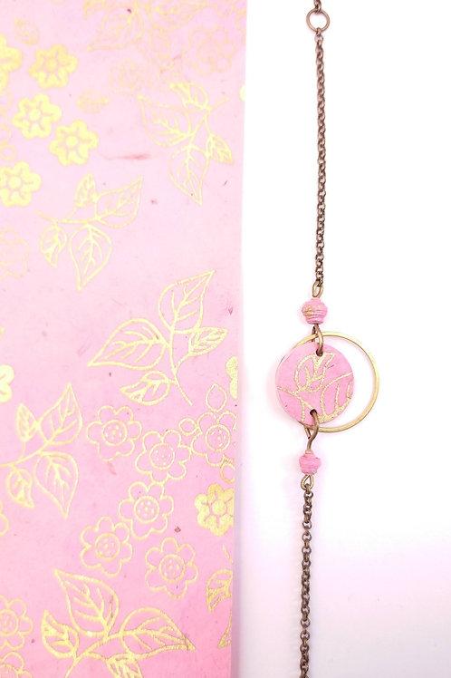 Bracelet Alzire rose et or