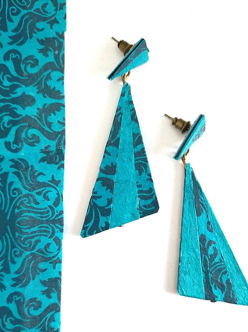 Boucles d'oreilles Théanne bleue turquoise