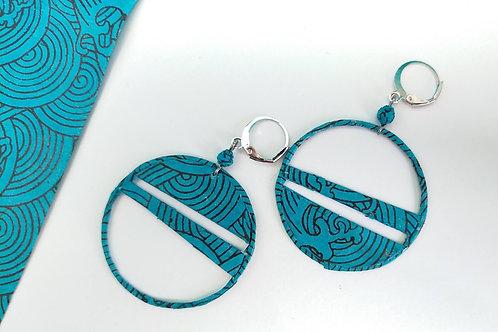 Boucles d'oreilles Séraphine bleu Turquoise