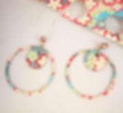 boucles d'oreilles anneaux en papier