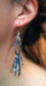 Boucles d'oreilles en papier janis