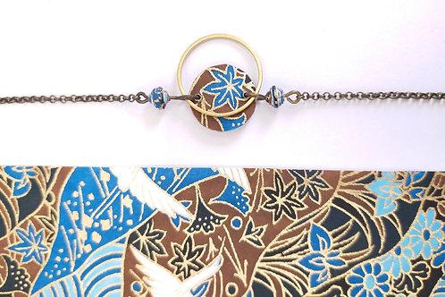 Bracelet Alzire bleu et marron