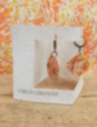 Boucles d'oreille en papier Laure-Anne