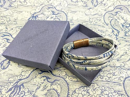 Bracelet Milla vert clair-bleu foncé