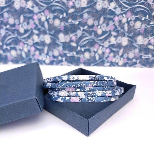 Bracelet Milla bleu-parme-blanc