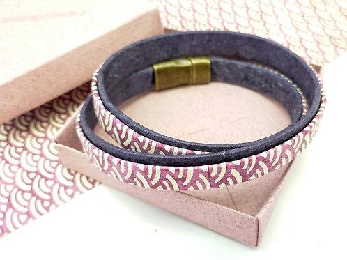 Bracelet Milla bordeaux pour homme