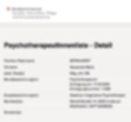 Eintragung Liste Psychotherapie Bernhard
