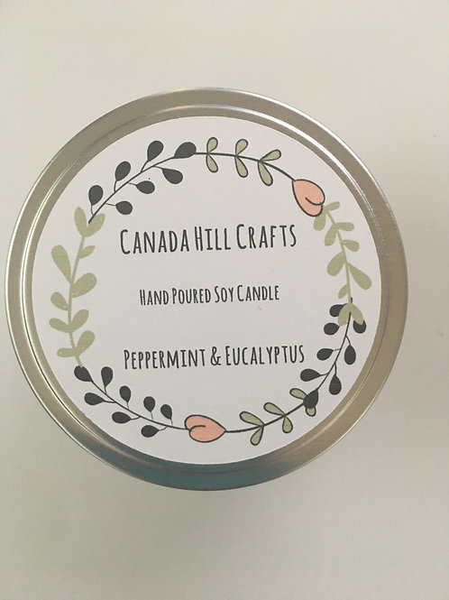 Soy Candle - Peppermint & Eucalyptus