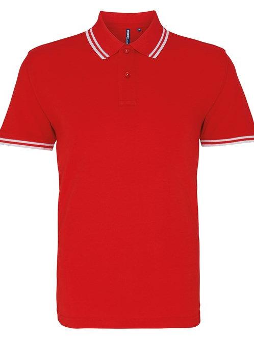 Asquith & Fox Unisex Twin Tip Polo Shirt