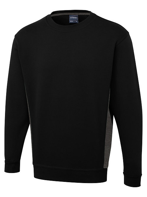 Uneek Two Tone Sweat Shirt