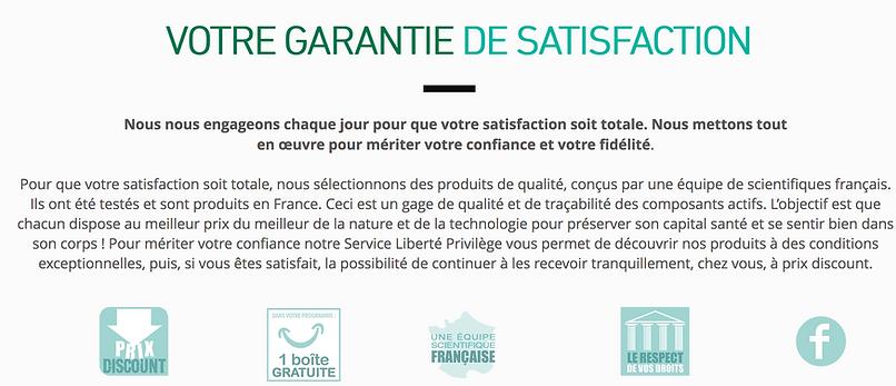 Votre garantie satisfaction