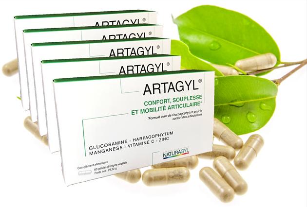 ARTAGYL Complement alimentaire à base de glucosamine, harpagophytum, vitamine C, manganèse et zinc