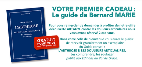 Votre premier cadeau : le guide de Bernard Marie, L'ARTHROSE & LES DOULEURS ARTICULAIRES